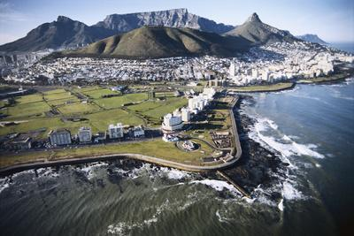South Africa, Capetown, Aerial View of City