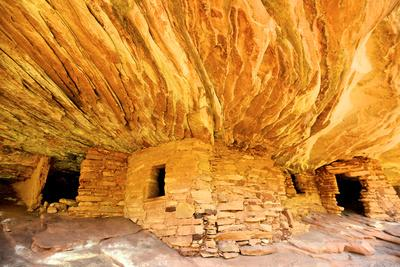 Mule Canyons House on Fire Ruin, Anasazi Ruins, Cedar Mesa, Utah
