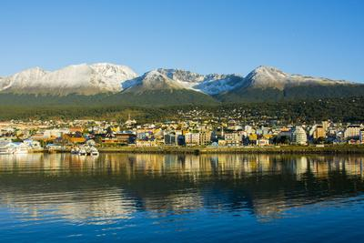 Argentina. Tierra Del Fuego. Ushuaia. Sunrise over the Town