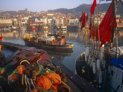 Fishing Boats in the Harbour, Whitby, North Yorkshire, England