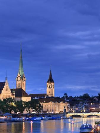 Switzerland, Zurich, Old Town and Limmat River