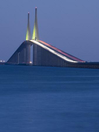 Sunshine Skyway Bridge, Tampa Bay, Saint Petersburg, Florida