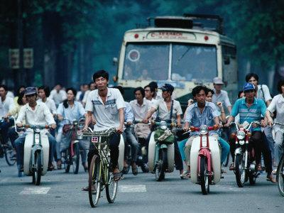 Bicycles, Buses and Motorscooters, Ho Chi Minh City, Vietnam
