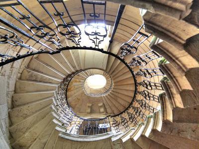 Spiral Staircase, Seaton Delaval Hall, Northumberland, England, UK