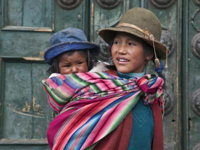 Peru, a Young Peruvian Girl