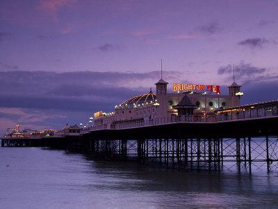 Brighton Pier Offers Entertainment for Visitors, England