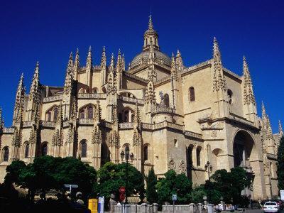 Late-Gothic 16th Century Limestone Cathedral, Segovia, Castilla-Y Leon, Spain
