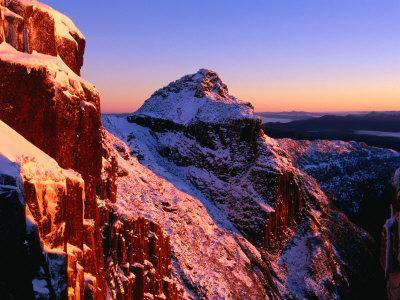 Winter Dawn on Mt. Anne, South West National Park, Tasmania, Australia