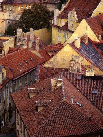 Rooftops of Houses, Prague, Czech Republic