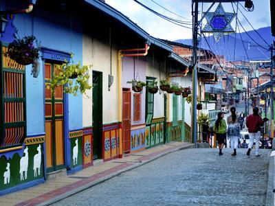 Guatape, Colombia, Outside of Medellin, Small Town known for its 'Zocalos' Panels of Three Dimensio