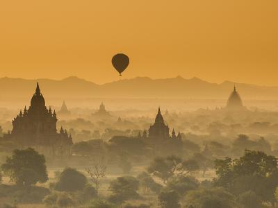 Bagan at Sunset, Mandalay, Burma (Myanmar)