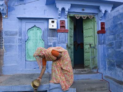 Traditional Blue Architecture, Jodhpur, Rajasthan, India