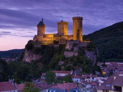 Foix Castle, Foix, Ariege, Midi-Pyrenees, France