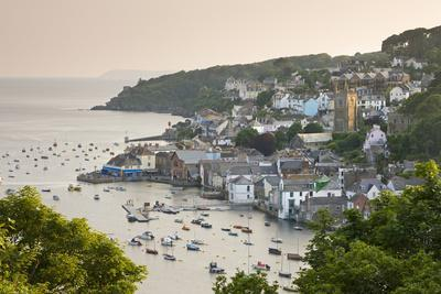 The Cornish Town of Fowey on the Fowey Estuary, Cornwall, England. Summer