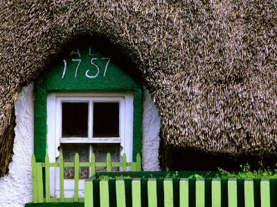 Thatched Cottage Window and Windowbox Detail, Mooncoin, Ireland