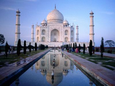 Taj Mahal Reflected in Watercourse