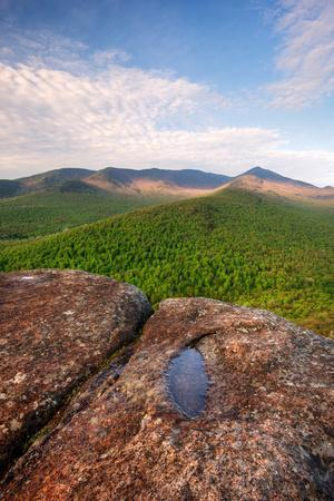 Morning Light on Cascade Mountain from Owls Head, Adirondack Park, New York State, USA