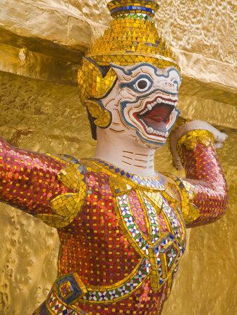 Golden Chedis at Royal Grand Palace, Rattanakosin District, Bangkok, Thailand, Southeast Asia