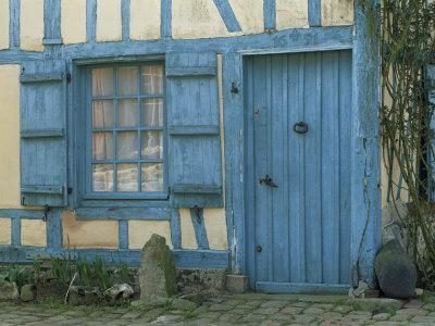 Ancient Timbered House with the Date of 1691 Carved Above Doorway, Gerberoy, Oise, Picardie, France