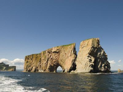 Perce Rock, Gaspe Peninsula, Province of Quebec, Canada, North America