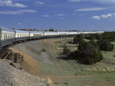 View from Open Doorway on the American Orient Express Train, Travelling in the Southwest U.S., USA