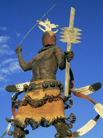 Apache Mountain Spirit Dancer, a 20Ft Bronze by Craig Dan Goseyun, Santa Fe, New Mexico, USA