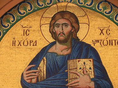 Greek Orthodox Icon Depicting Jesus Christ, Thessalonica, Macedonia, Greece, Europe