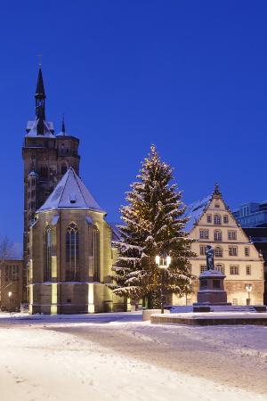Schillerplatz with Stiftskirche