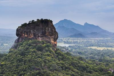 Sigiriya Rock Fortress, UNESCO World Heritage Site, Seen from Pidurangala Rock, Sri Lanka, Asia