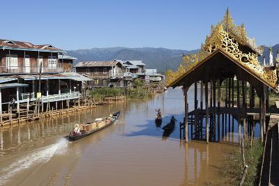 Canal-Side Village, Inle Lake, Shan State, Myanmar (Burma), Asia