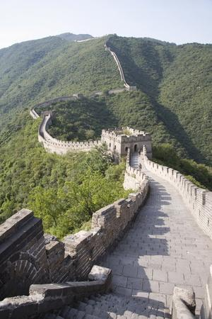The Great Wall at Mutyanyu, UNESCO World Heritage Site, Near Beijing, China, Asia