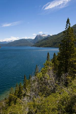 Beautiful Mountain Lake in the Los Alerces National Park