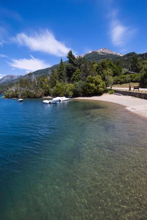 Beach on a Mountain Lake in Los Alerces National Park, Chubut, Patagonia, Argentina, South America