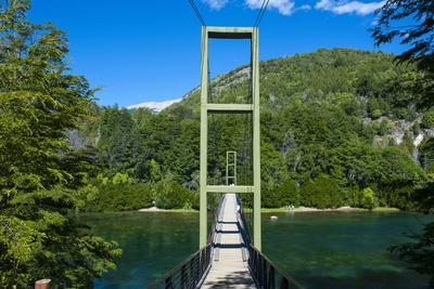 Hanging Bridge in the Los Alerces National Park, Chubut, Patagonia, Argentina, South America