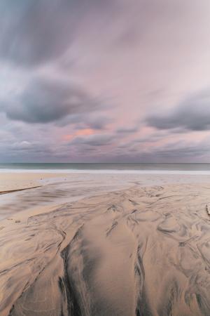 Carbis Bay Beach at Dawn, St. Ives, Cornwall, England, United Kingdom, Europe