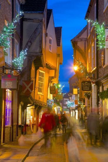 The Shambles At Christmas York Yorkshire England