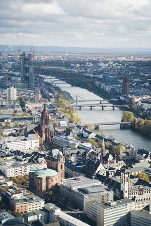 High Angle View of Frankfurt-Am-Main, Hesse, Germany, Europe