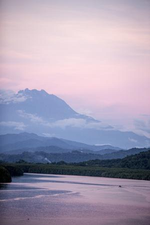 A View of Mount Kinabalu over Menkabong River