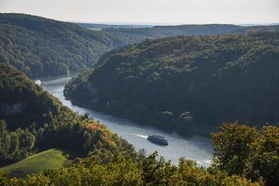 View over the River Danube Breakthrough Near Weltenburg Monastery, Bavaria, Germany, Europe