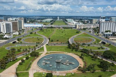 View from the Television Tower over Brasilia, Brazil, South America