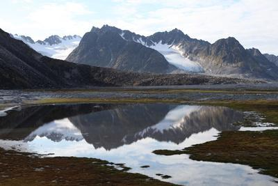 Mountains and Reflections at Magdelenefjord, Svalbard