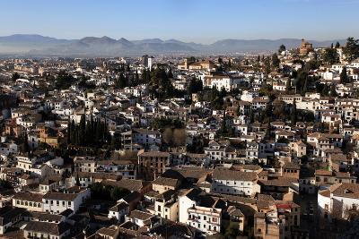 Looking across the Rooftops of Granada, Andalusia, Spain, Europe