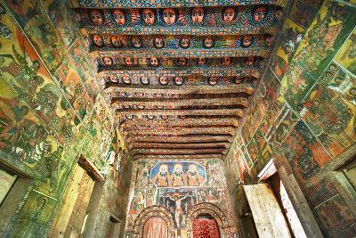 Ancient Wall Paintings in the Interior of the Debre Birhan Selassie Church