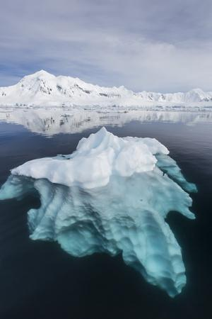 Glacial Ice Floating in the Neumayer Channel Near Wiencke Island, Antarctica, Polar Regions
