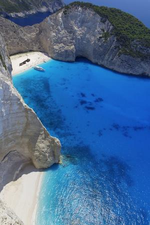 Navagio Beach and Shipwreck at Smugglers Cove on the Coast of Zakynthos