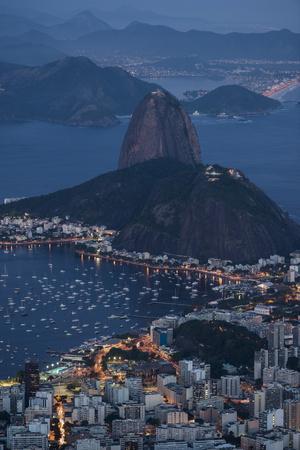 View from Cristo Redentor over Rio De Janeiro at Night, Corcovado, Rio De Janeiro