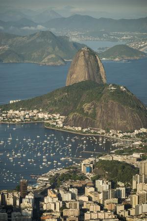 View from Cristo Redentor over Rio De Janeiro, Corcovado, Rio De Janeiro, Brazil, South America