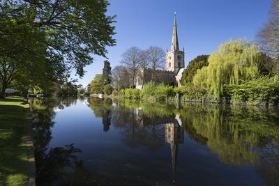 Holy Trinity Church on the River Avon, Stratford-Upon-Avon, Warwickshire, England, United Kingdom