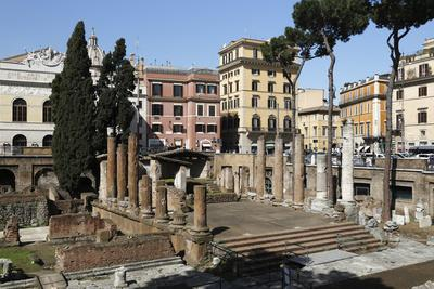 Roman Ruins in the Sacred Area (Area Sacra) of Largo Argentina, Rome, Lazio, Italy
