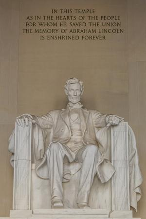 Interior View of the Lincoln Statue in the Lincoln Memorial